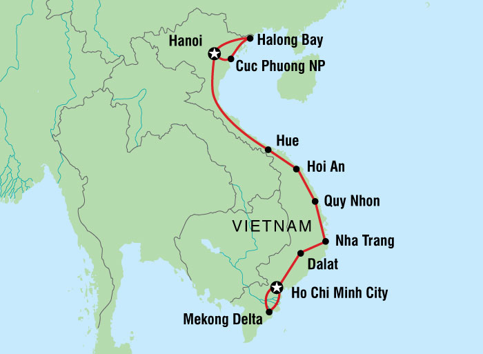 North Vietnam And South Vietnam Map.Vietnam South To North